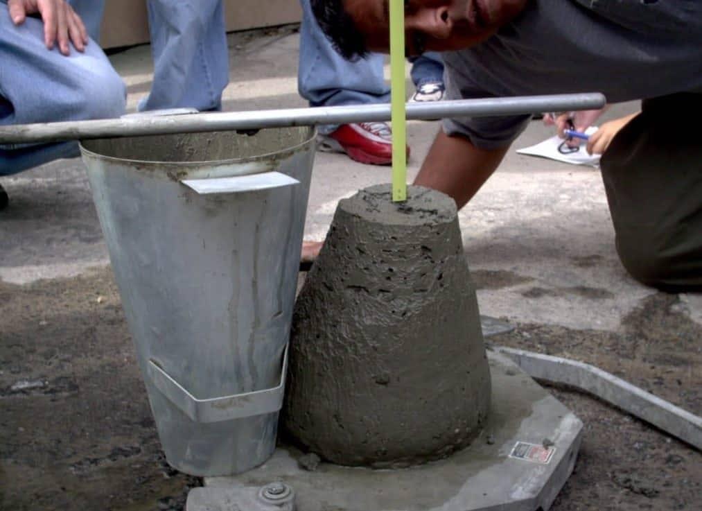 Осадка бетонного конуса картинка